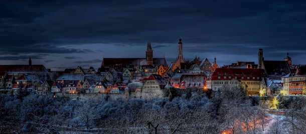 The medieval walled town of Rothenburg Germany