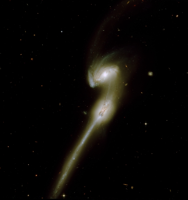 The mice galaxies Hubble reprocessing x