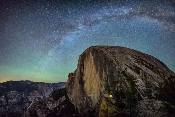 The Milky Way over Half Dome Yosemite National Park Matthew Saville