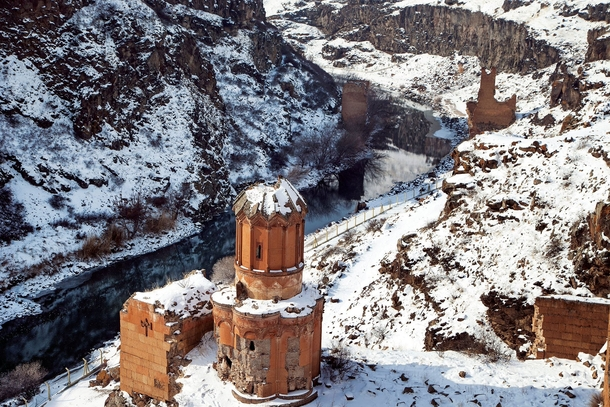 The monastery of the Hripsimian Virgins in the ruins of Ani the medieval capital of Armenia