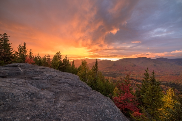 The most beautiful sunrise Ive seen Mount Jo Adirondacks