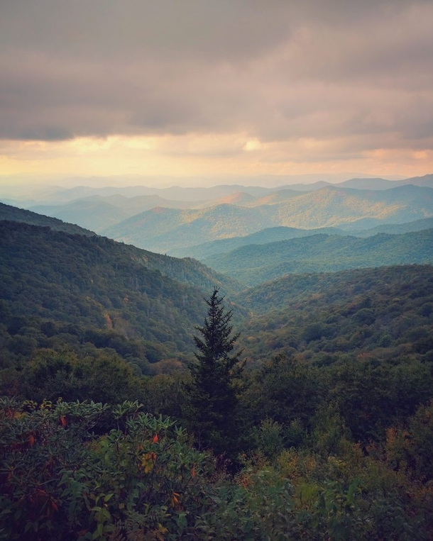 The most picturesque road Ive ever driven Blue Ridge Parkway NC