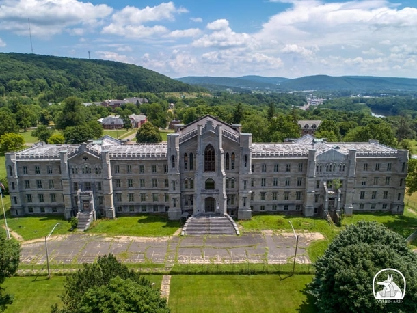The old Binghamon Inebriate Asylum Now planned for use by Binghamton University photo by anubis arts