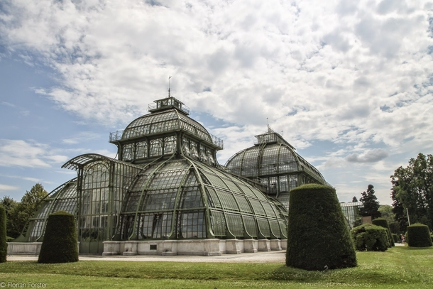 the palm house in vienna consists out of   glass tiles  more in comments