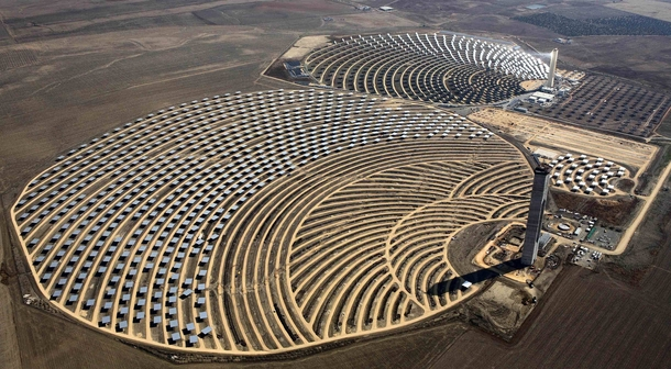 The PS amp PS solar power plants Andalusia Spain