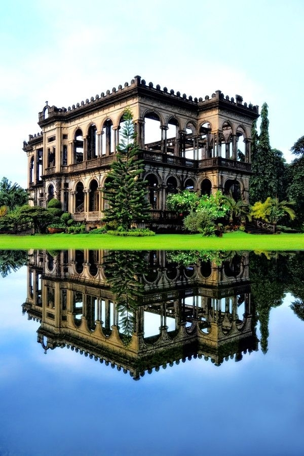 The Ruins of The Don Mariano Ledesma Lacson Mansion just outside Bacolod City Philippines
