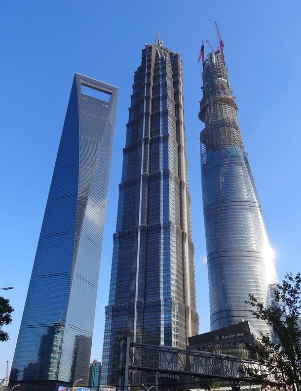 The Shanghai Big Jin Mao Tower Shanghai Tower and Shanghai ...