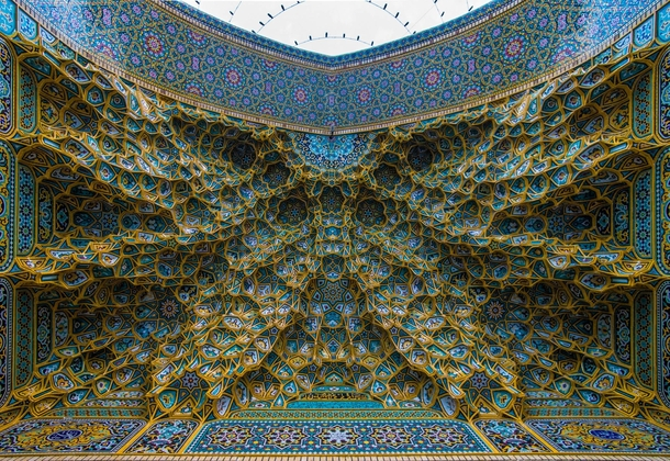 The Shrine of Sayeda Fatima Al-Masouma Iran X-post from rpics