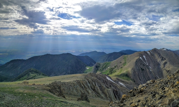 The skies over Montana have been magnificent in the past few weeks The view from Sacagewea Peak near Bozeman