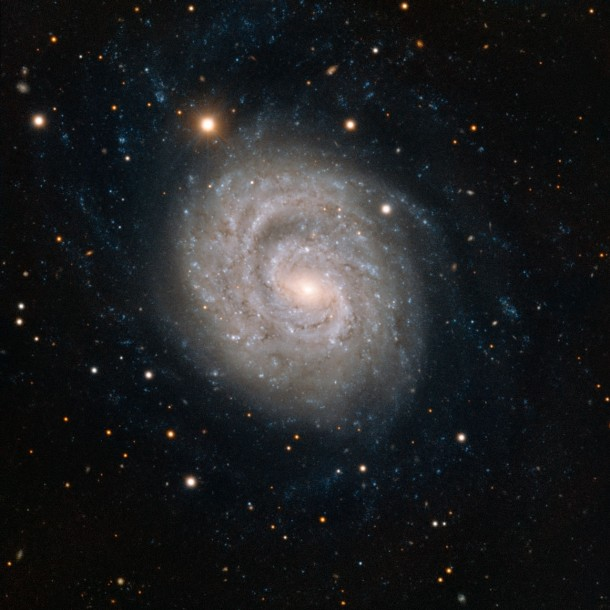The spiral galaxy NGC  lies  million light-years away in the constellation Eridanus It contains a very brilliant super nova SN em Before its death the star was more than  times the mass of our sun