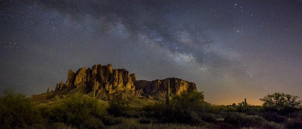The Superstition Mountains Arizona am last night