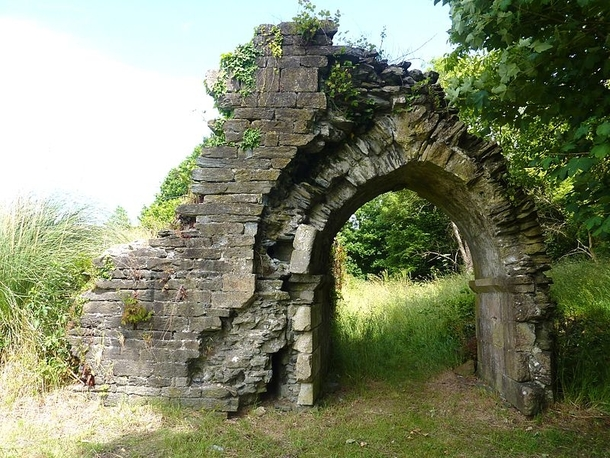 The th century ruins of Chteau de Joyeuse Garde associated with Arthurian legend and said to be the location of Sir Lancelots tomb
