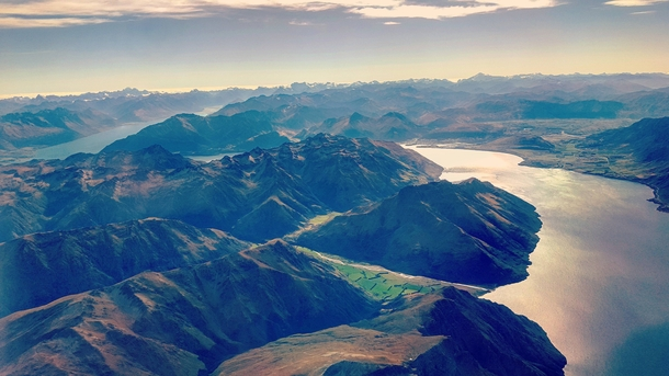 The view from my plane leaving Queenstown New Zealand
