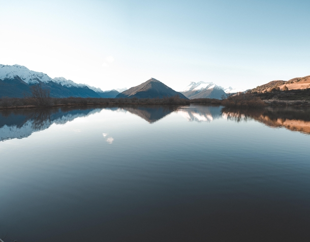 The view from the boardwalk at the Lagoon Glenorchy New Zealand -photo stitch  insta connorhenderson_photography