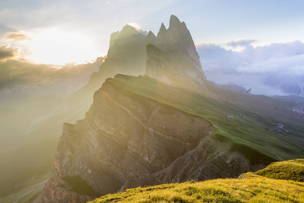 Theres a reason they call them the Odle Needle Mountains Italian Dolomites