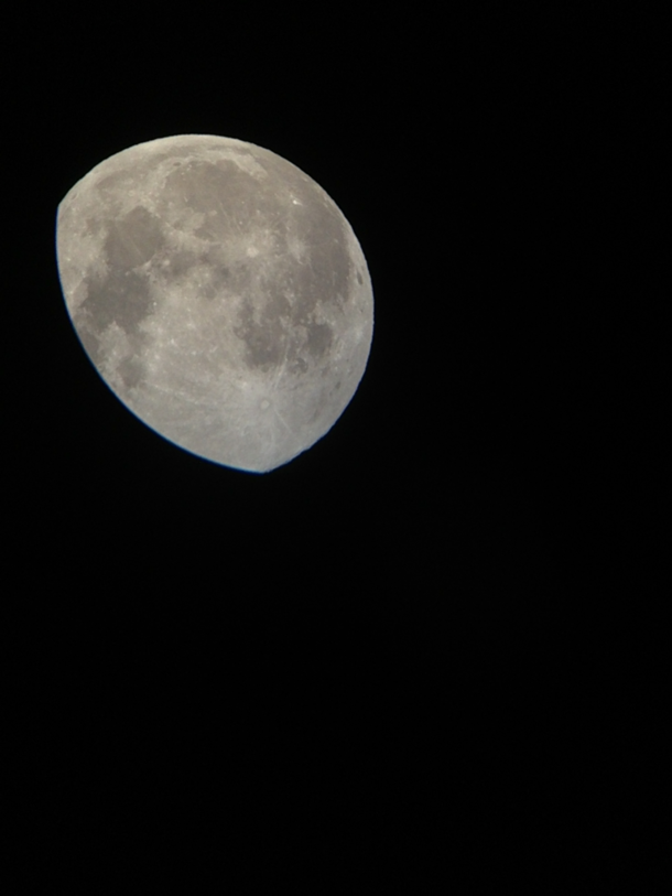 This is a photo of Moon I shot last night