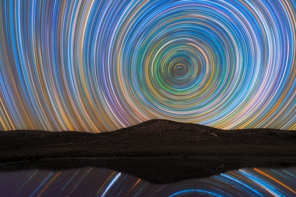 This is my first Startrails picture I took nearly  images to show the rotation of the Earth over  hours