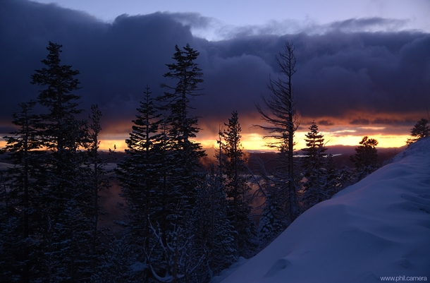 This is why Im late to work every day SNOW glorious snow  sunrise on the back side of Mt Rose above Reno NV
