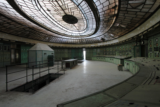 This old power plant looks like the controls for a alien spaceship Built in - Kelenfld Power Plant Budapest Hungary