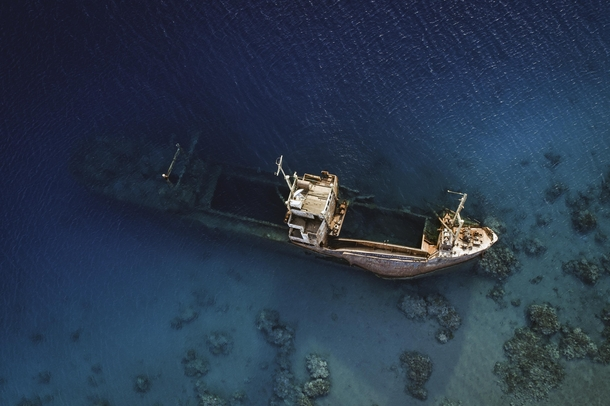This shipwreck left in the Red Sea garycphoto