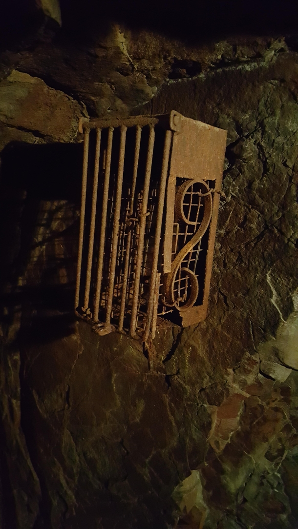 This thing in an abandoned cave that was dug out in  with picks and shovels Coaticook QC