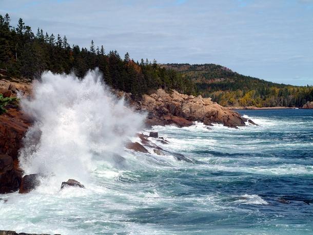 Thunder hole in acadia national park oc photorator for Thunder hole acadia
