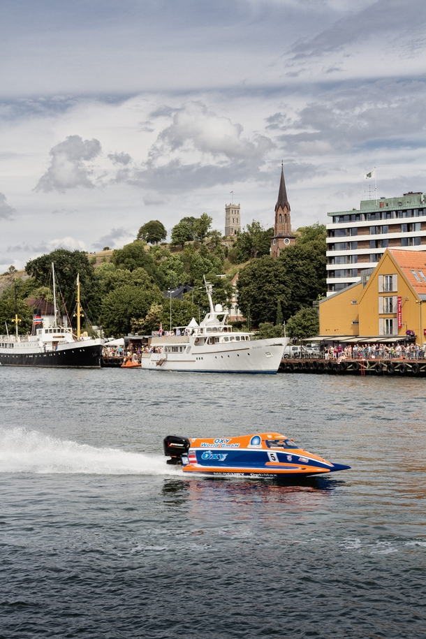 Tnsberg Norway From todays F powerboat race in the towns canal