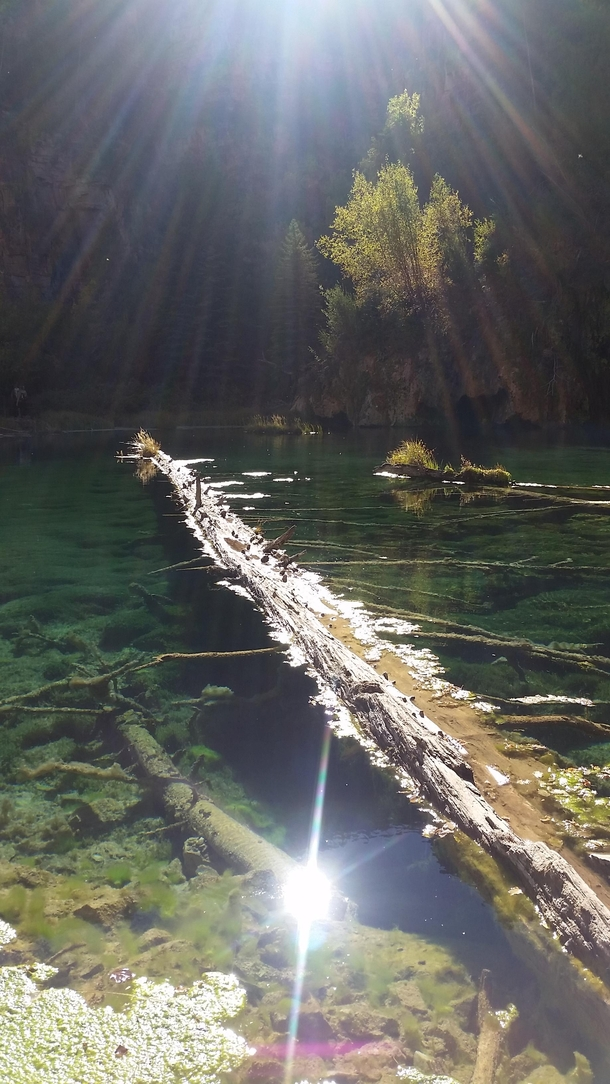 Took this at Hanging Lake in Colorado yesterday Hope you guys like it