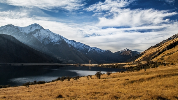 Top of the Lake was filmed here Cant fault them Moke Lake Otago NZ