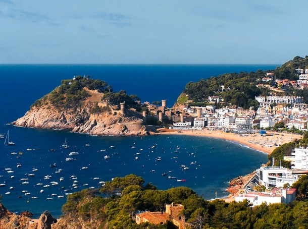 Tossa de Mar Spain  city pictures gallery : tossa de mar spain tags village tossa spain