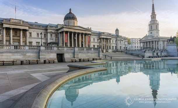 Trafalgar Square London UK  by George Johnson