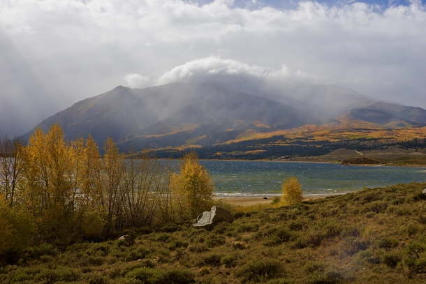 Twin Lakes Colorado Pulled a couple feet off of the road on my way somewhere and walked  feet had a Snickers bar Worth it