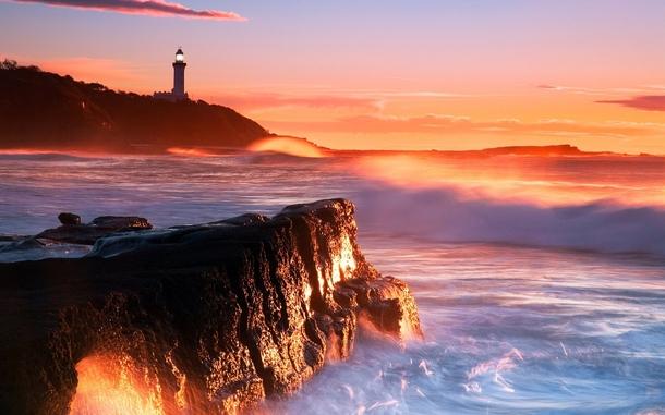 природа маяк море скалы  № 2238423 бесплатно