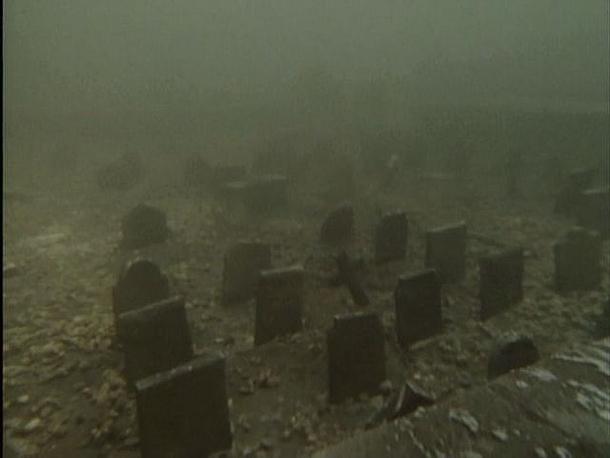 Underwater Graveyard Capel Celyn Wales Photorator