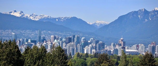 Vancouver British Columbia from Queen Elizabeth Park