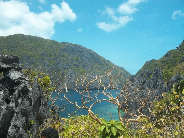View from an abandoned monastery Palawan Philippines
