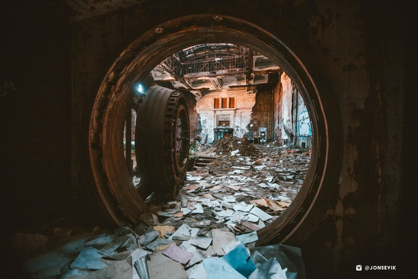 View From Inside A Year Old Vault In An Abandoned Bank