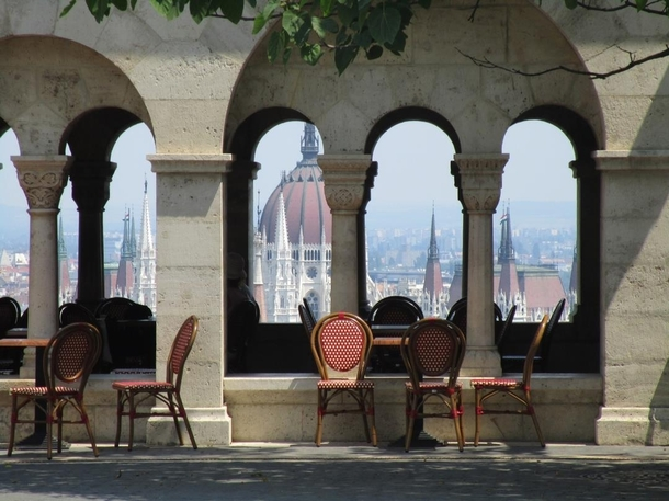 View from the Matthias Church in Budapest