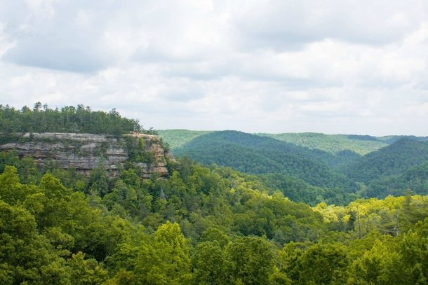 View from the Natural Bridge in Kentucky
