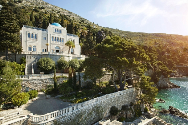 Villa Sheherazade a  summer retreat house near Dubrovnik in Croatia  built for Vilim Zimdin as a gift to his Moorish mistress Sherezade inspired by the One Thousand and One Nights castle and the character named same as her Designed by Alfred Keller