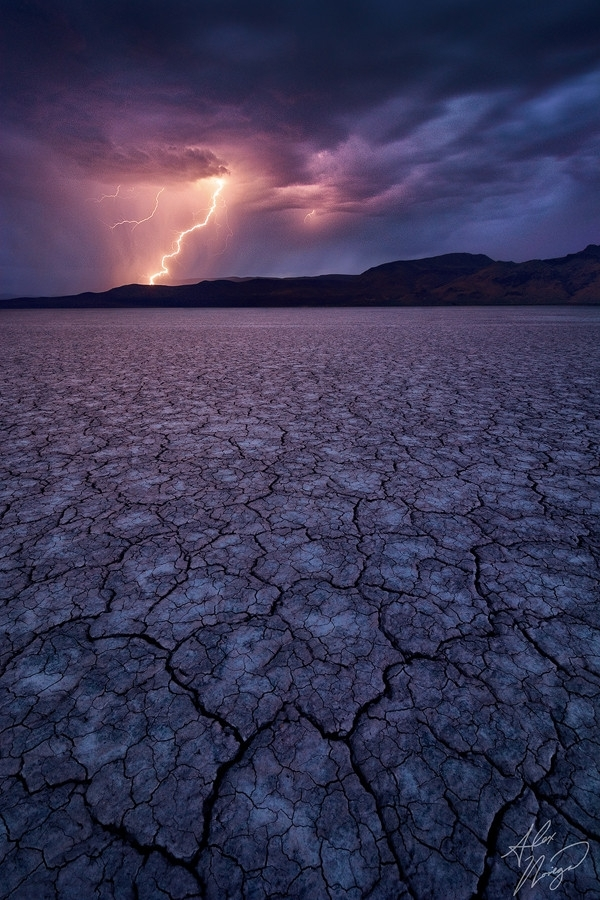 Voltaic Force - Lightning over Oregons Alvord Desert Playa
