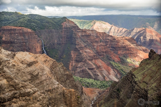 Waimea Canyon otherwise known as the Grand Canyon of the Pacific - Kauai Hawaii