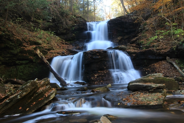 Waterfall at Ricketts Glen PA  By James Poole