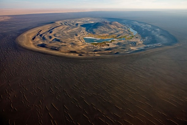 Wau al Namus or Caldera of Mosquitoes A calderaoasis in Libya Also near the geographic center of the Sahara Desert