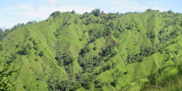 Well-defined triangular facettes and razor-sharp peaks in the mountains of Municipality of Malibcong Province of Abra Philippines This was during our geohazard mapping