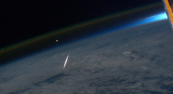 What a falling star looks like from space
