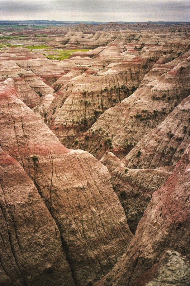 What the Badlands look like without heavy photo manipulation- shot with Kodak UltraMax  color film Badlands National Park South Dakota  OC