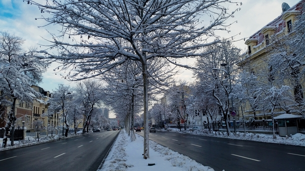 Winter in Bucharest Romania  by dorinser