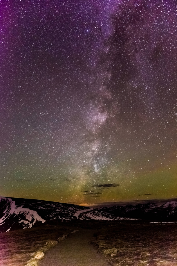 Winter Night Sky in Rocky Mountain National Park CO