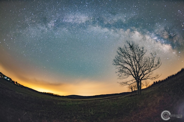 With ample places to park and camp Big Meadows at Shenandoah National Park VA is a great place to see the Milky Way Galaxy during the summer months